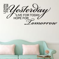 Learn from Yesterday art ~ Wall sticker / decals